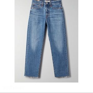 Levi's Wedgie Icon Straight Jeans with raw hem